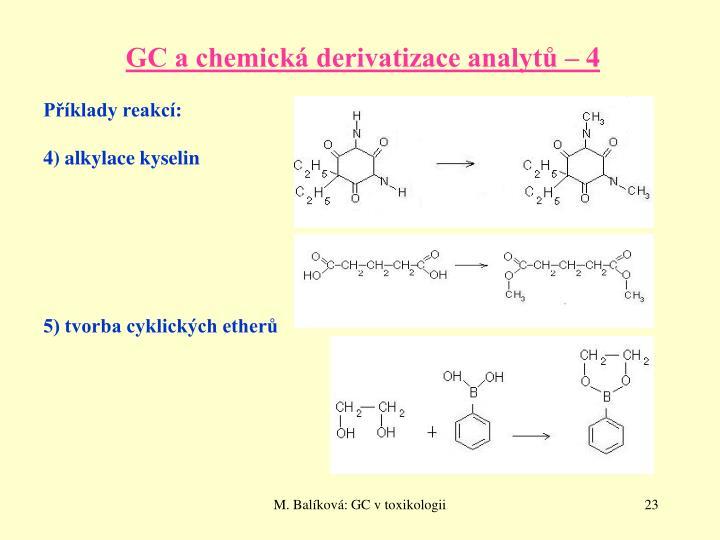 GC a chemická derivatizace analytů – 4