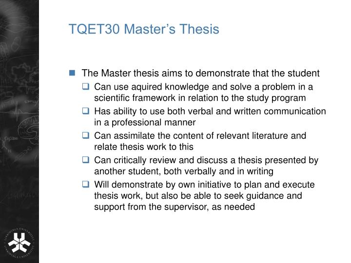 a master s thesis Get a sample dissertation, thesis example and research proposal sample from mastersthesiswritingcom for free undergraduate, master's or mba paper.