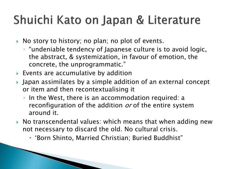 Shuichi Kato on Japan & Literature