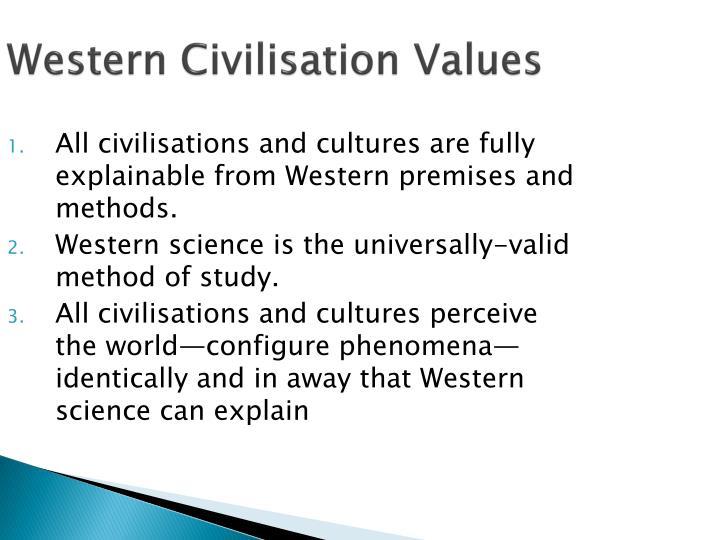 Western Civilisation Values