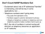 don t count nanp numbers out