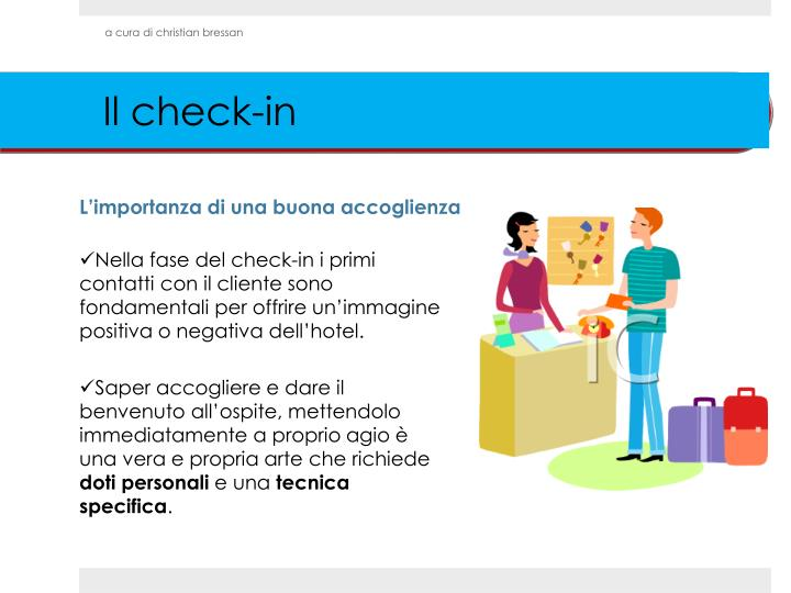 Il check in