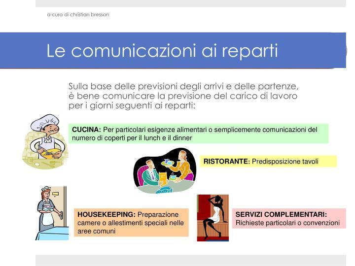 Le comunicazioni ai reparti