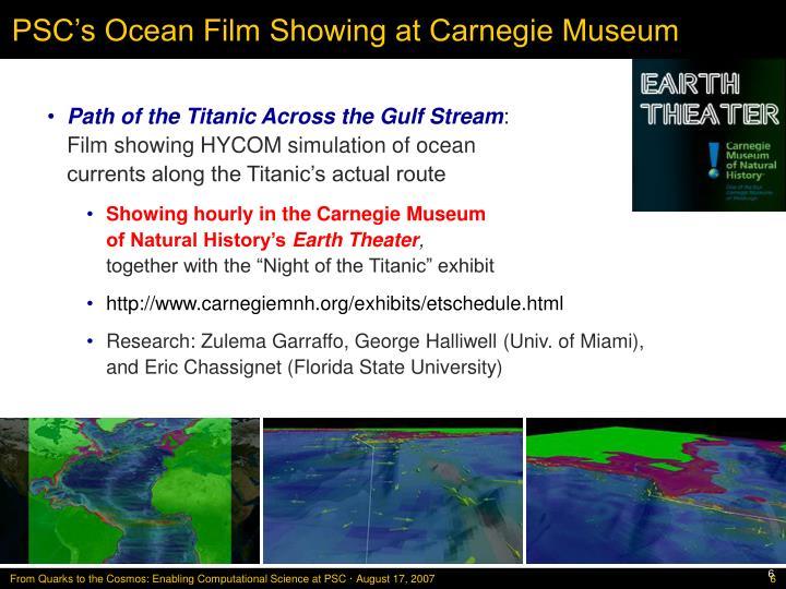 PSC's Ocean Film Showing at Carnegie Museum