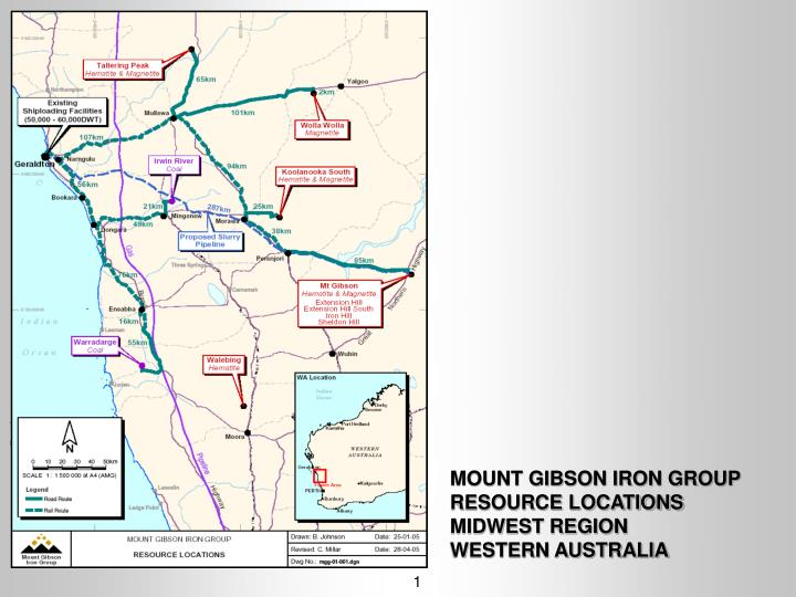 Mount gibson iron group resource locations midwest region western australia