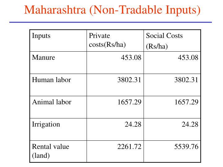 Maharashtra (Non-Tradable Inputs)