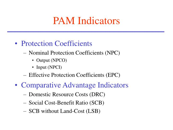 PAM Indicators
