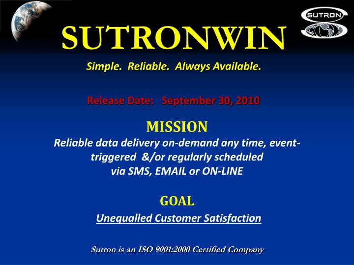 SUTRONWIN