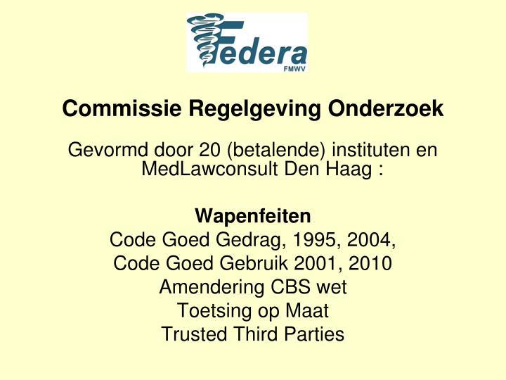 Commissie Regelgeving Onderzoek
