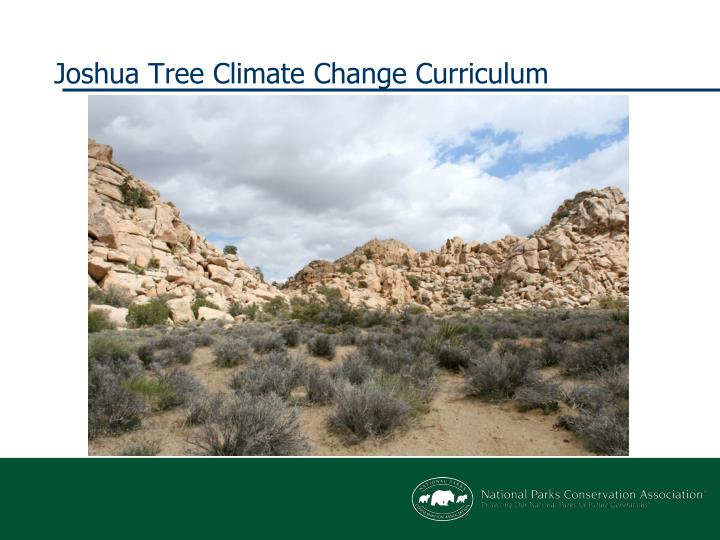 Joshua Tree Climate Change Curriculum