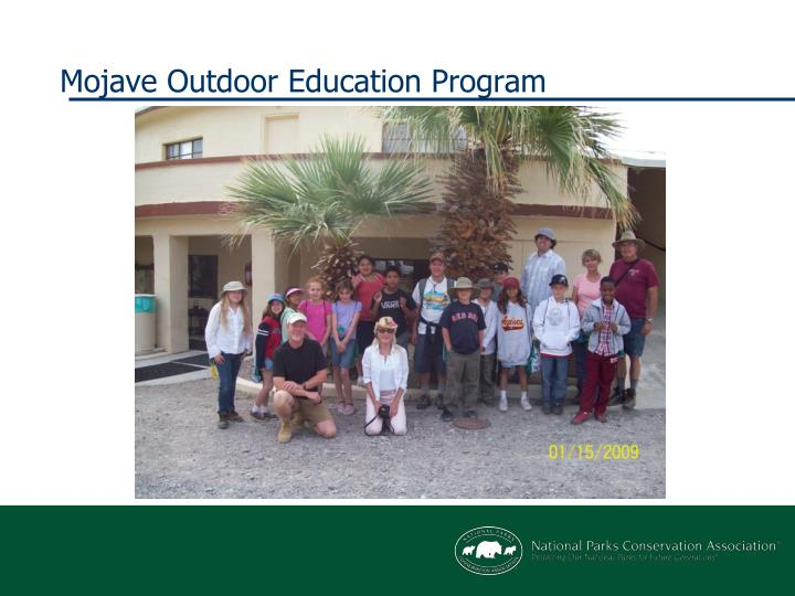 Mojave Outdoor Education Program
