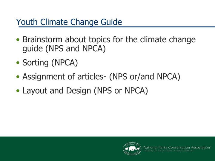 Youth Climate Change Guide
