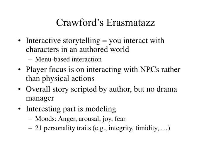 Crawford's Erasmatazz