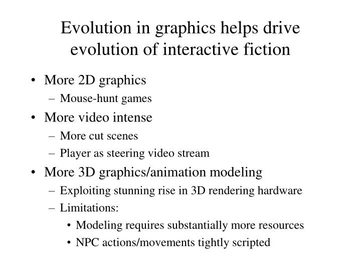 Evolution in graphics helps drive evolution of interactive fiction