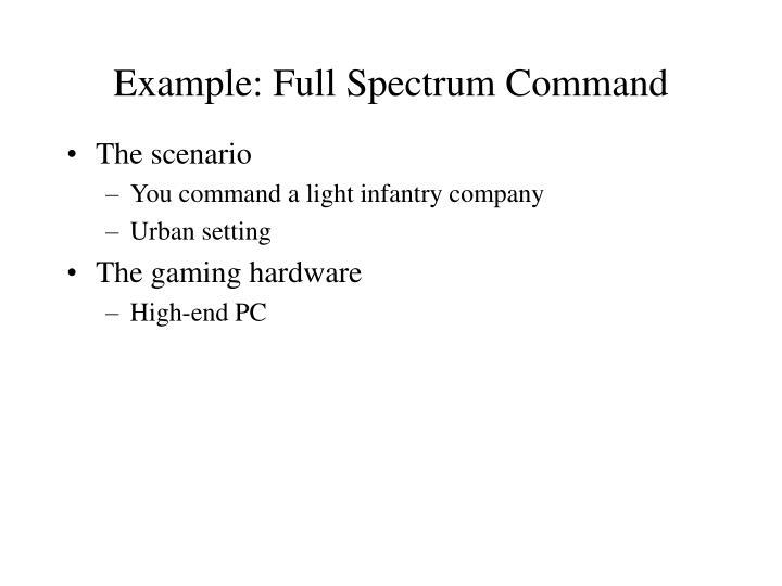 Example: Full Spectrum Command
