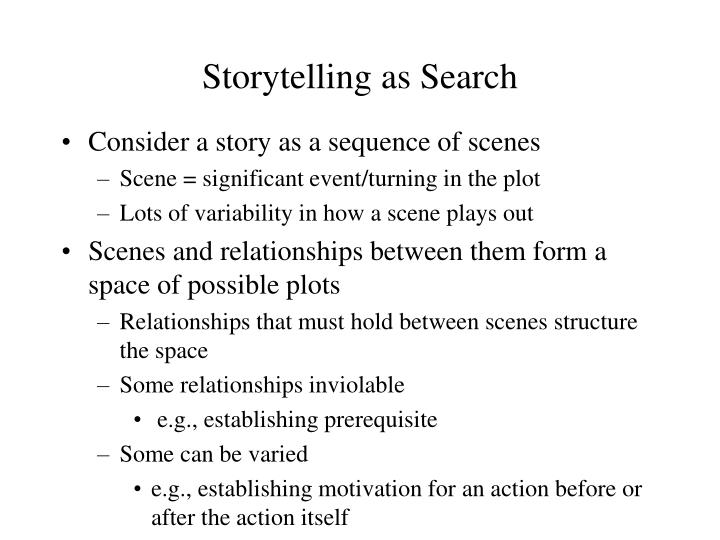 Storytelling as Search