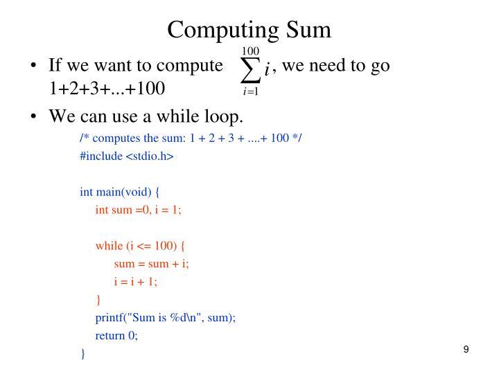 Computing Sum