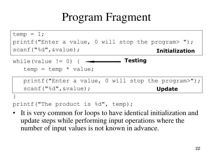 Program Fragment