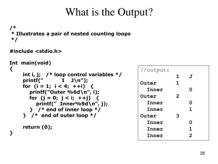 What is the Output?