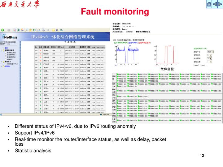 Fault monitoring
