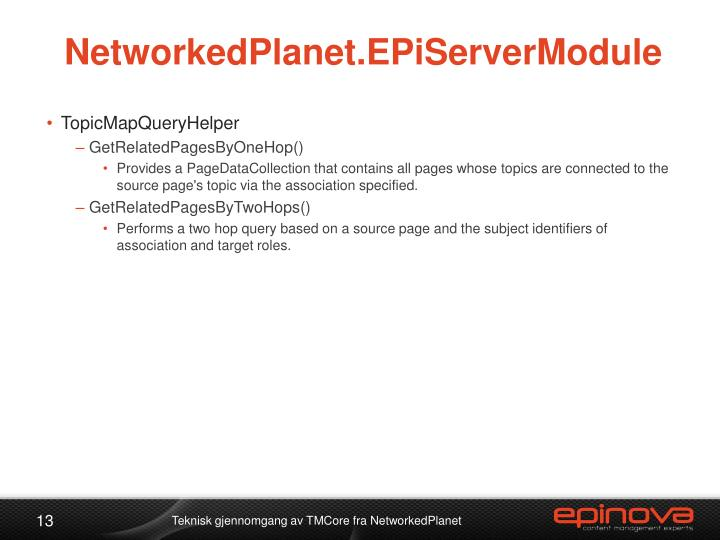 NetworkedPlanet.EPiServerModule
