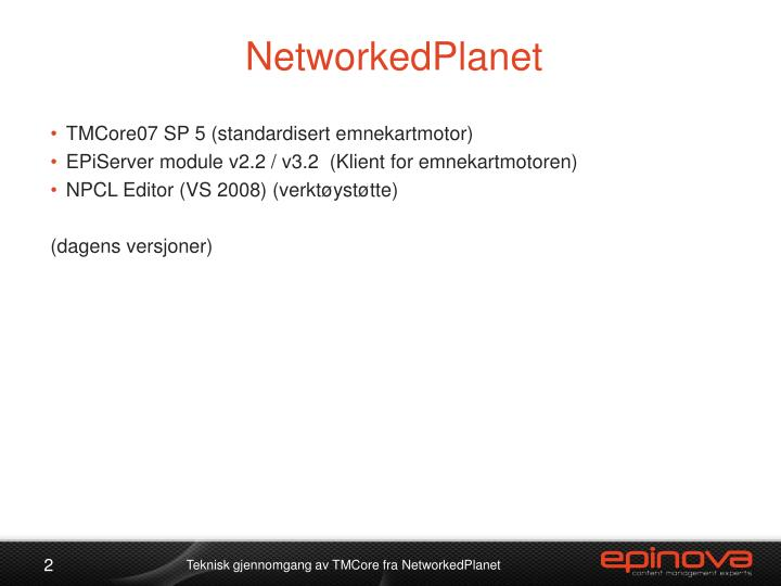NetworkedPlanet