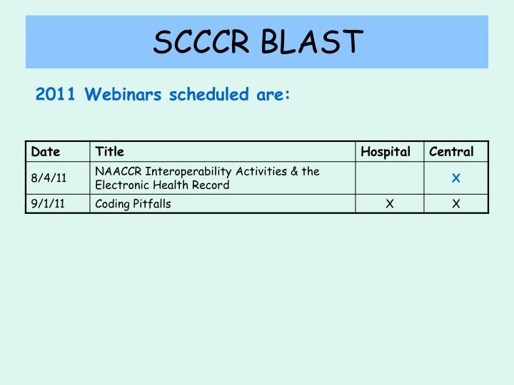 SCCCR BLAST