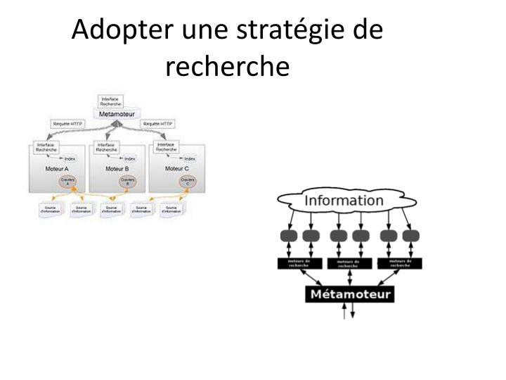 Adopter une stratégie de recherche