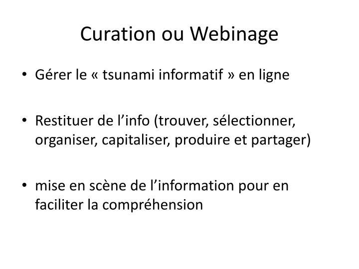 Curation ou Webinage