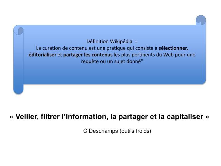 Définition Wikipédia  =