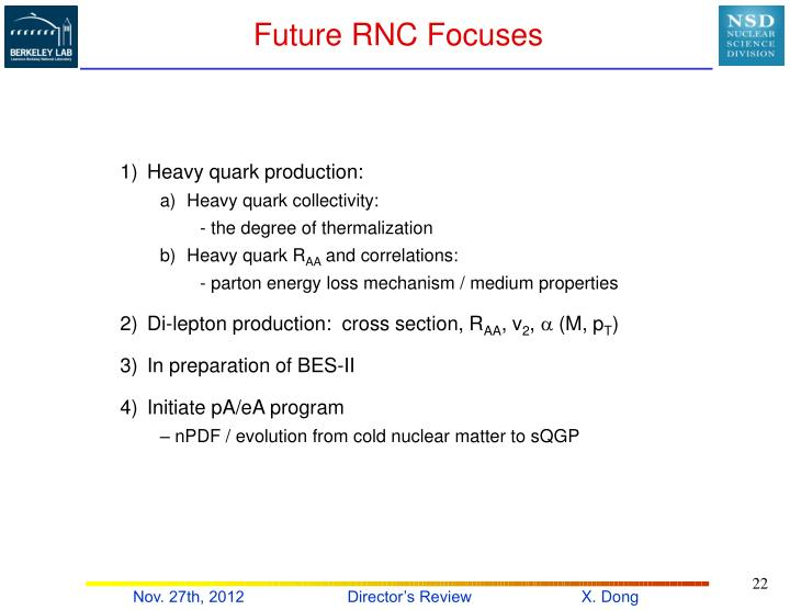 Future RNC Focuses