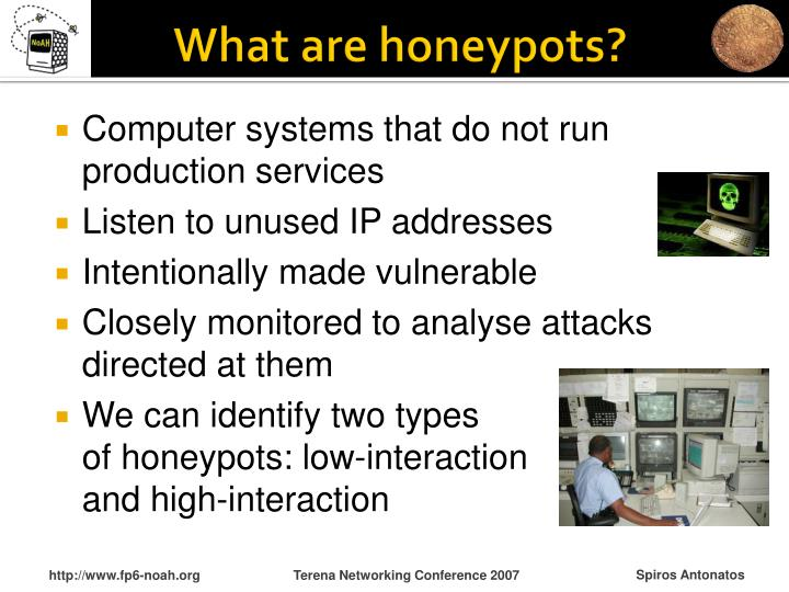 What are honeypots?