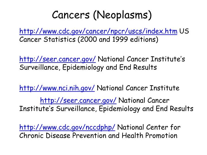 Cancers (Neoplasms)