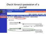 check library s possession of a journal