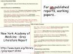 new york academy of medicine grey literature report