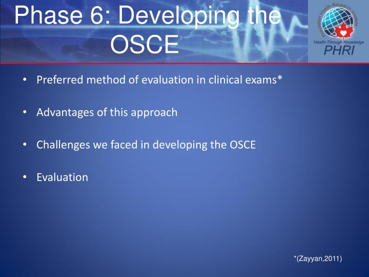 Phase 6: Developing the OSCE