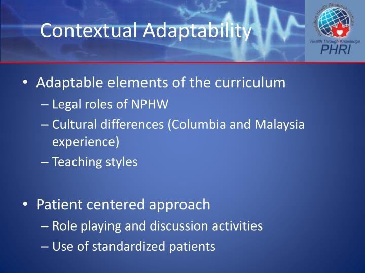 Contextual Adaptability