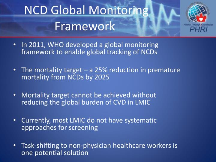 NCD Global Monitoring Framework