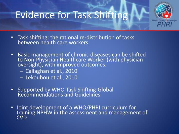 Evidence for Task Shifting