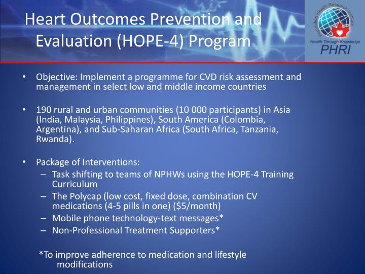 Heart Outcomes Prevention and Evaluation (HOPE-4) Program