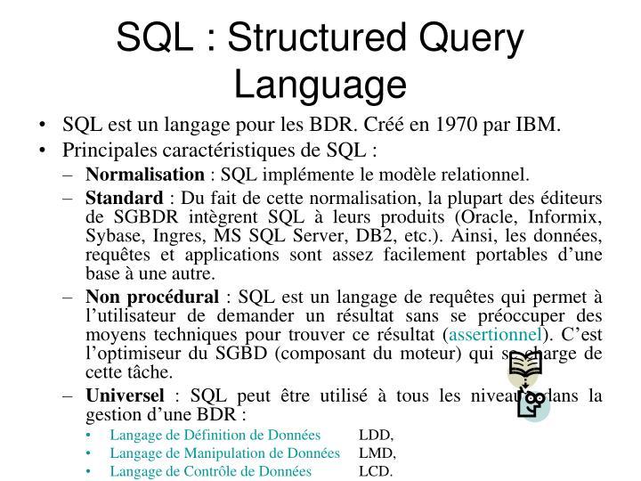 SQL :