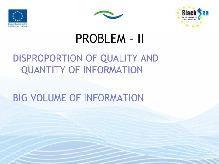 PROBLEM - II