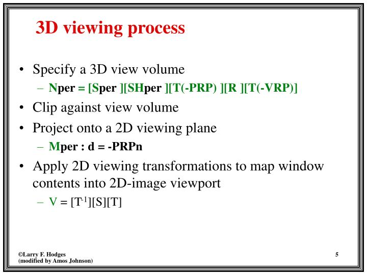 Specify a 3D view volume