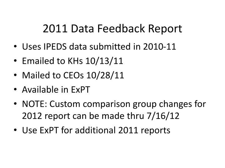 2011 Data Feedback Report