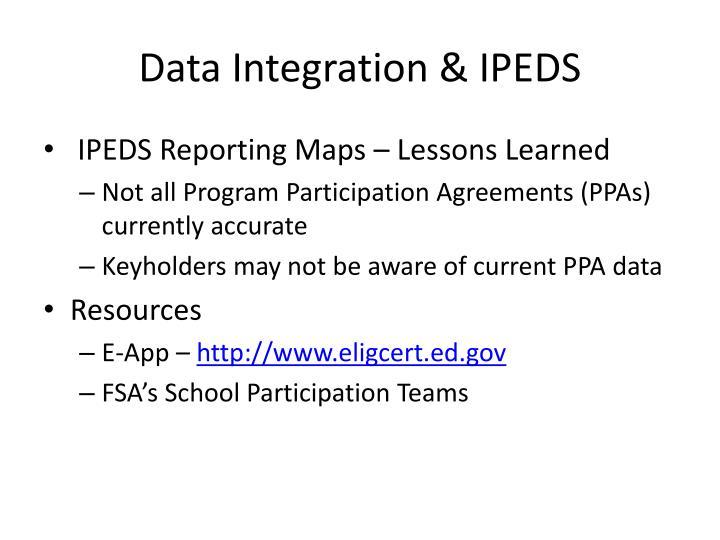 Data Integration & IPEDS