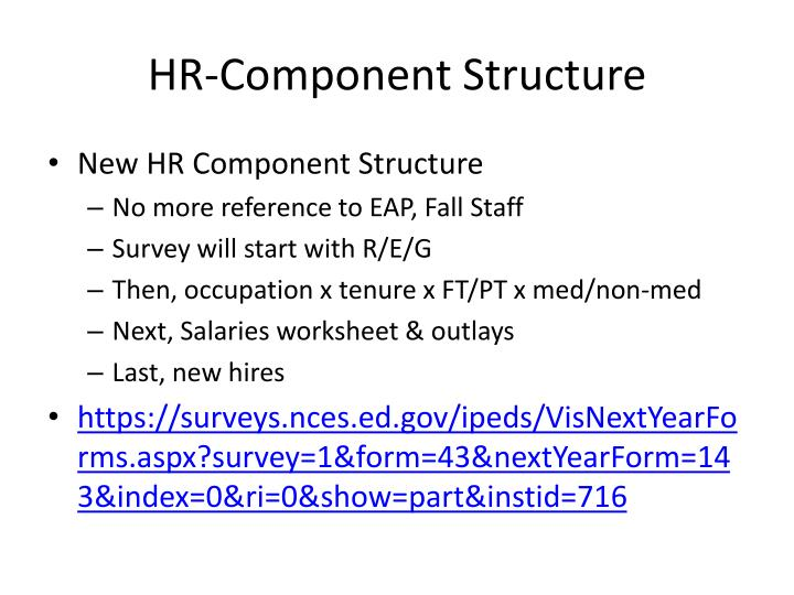 HR-Component Structure