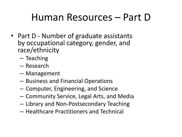 Human Resources – Part D