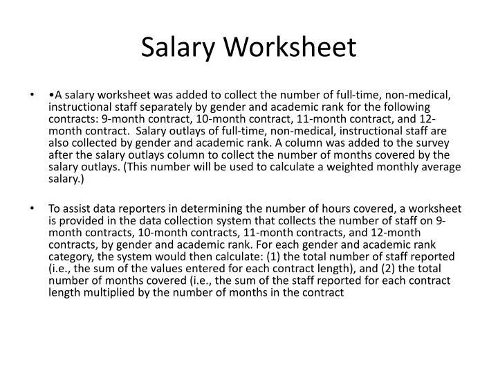 Salary Worksheet