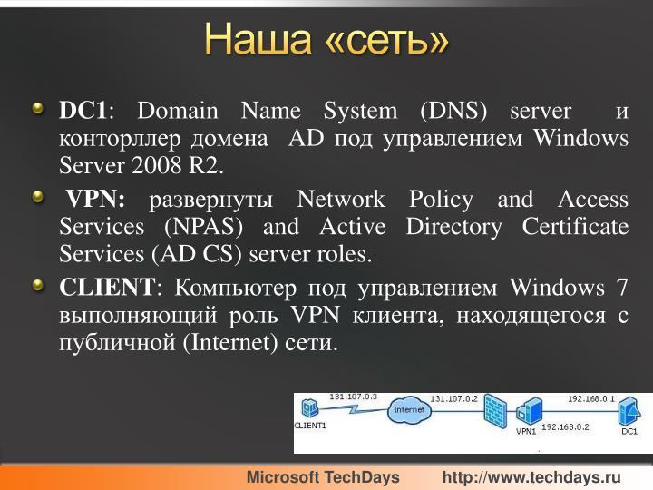 Наша «сеть»