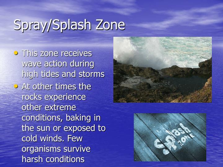 Spray/Splash Zone
